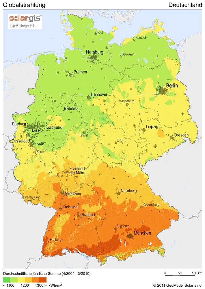 Globalstrahlung Deutschland